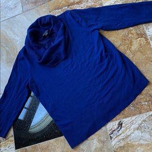 Cable & Gauge Royal blue soft cowl neck 3/4 sleeve